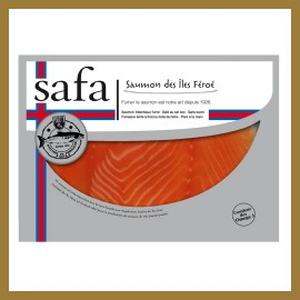 Saumon Fumé Iles Féroés -  2 Tranches Larges : 100 gr
