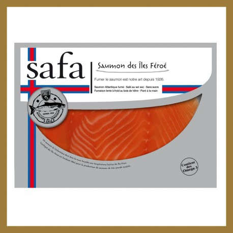 Saumon Fumé Iles Féroés - Tranches Larges : 160 gr